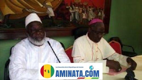 Elhadj Saliou Camara et Mgr vincent coulibaly