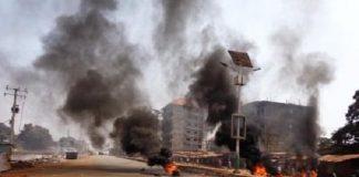 Manif arrestation Bambato-Cosa, police, violences, affrontement, grève, ville morte