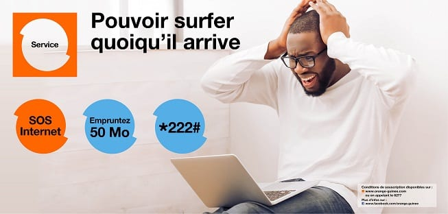 Orange Guinée sos internet