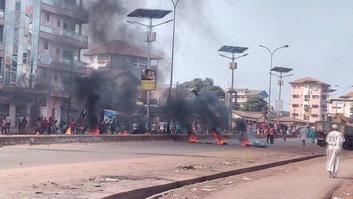violentes manifestations à Conakry