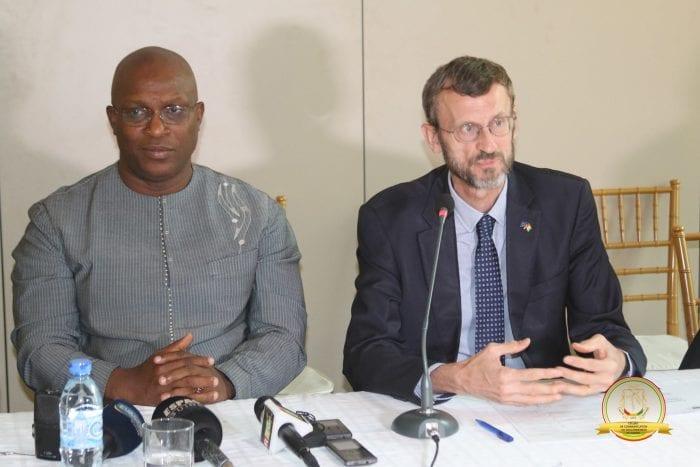 Kiridi Bangoura et Gerardus Gielen