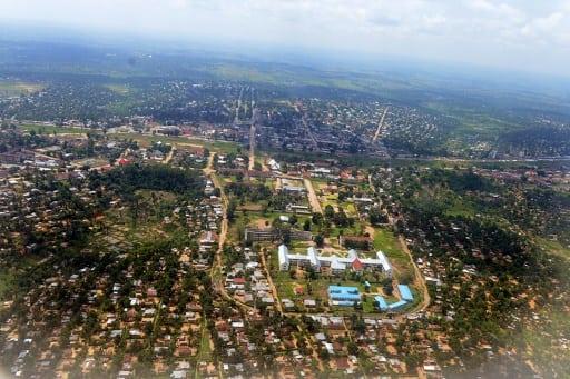 Vue aérienne de Kananga, dans le centre de la République démocratique du Congo, le 11 janvier 2013   AFP/Archives   Junior D. Kannah