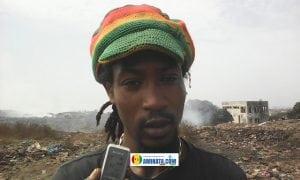 Ibrahima Sory Barry, habitant au milieu de la décharge