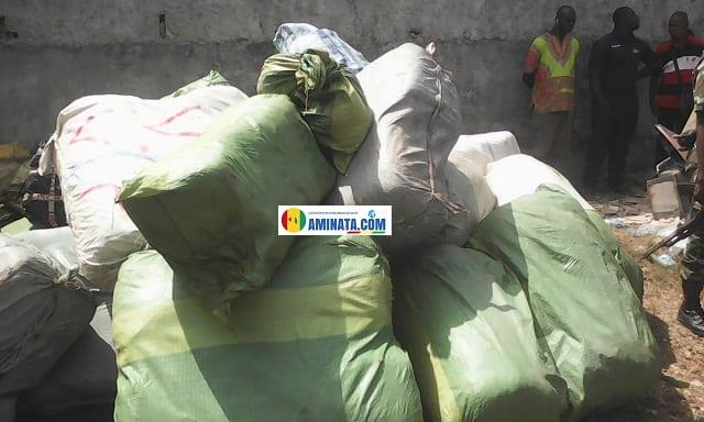 plusieurs kilos de chanvre indien, drogue