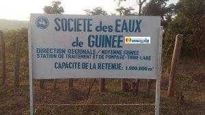 société des eaux de Guinée SEG, penuerie d'eau