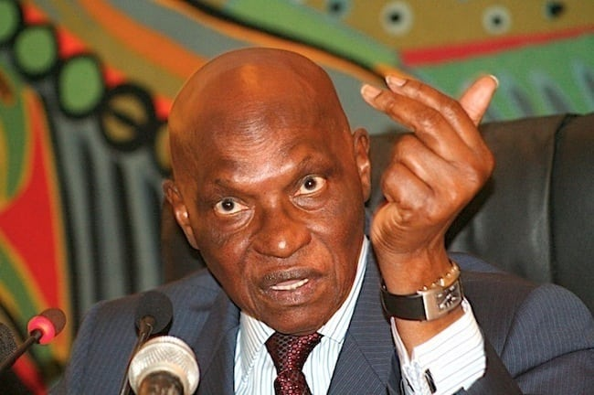 Le Président Abdoulaye Wade