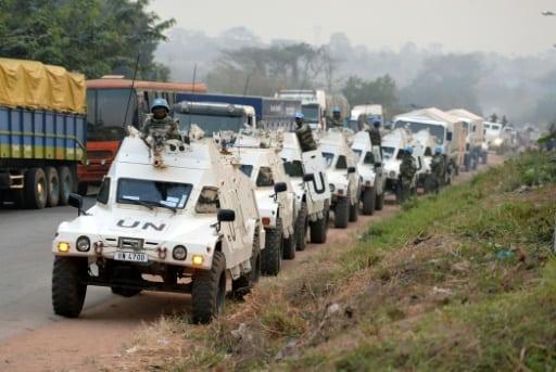 Un convoi de Casques Bleus de l'ONU, le 6 janvier 2017 à Bouaké, en Côte d'Ivoire | AFP/Archives | SIA KAMBOU