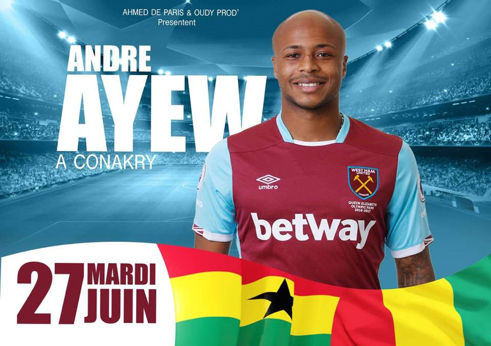 Andre ayew à conakry