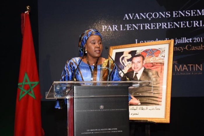 La Ministre Sanaba Kaba