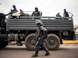 Police repression manifestant