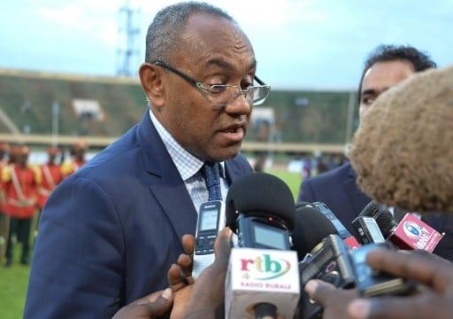 Le président de la CAF Ahmad Ahmad, en interview, le 4 août 2017 à Ouagadougou   AFP/Archives   Ahmed OUOBA