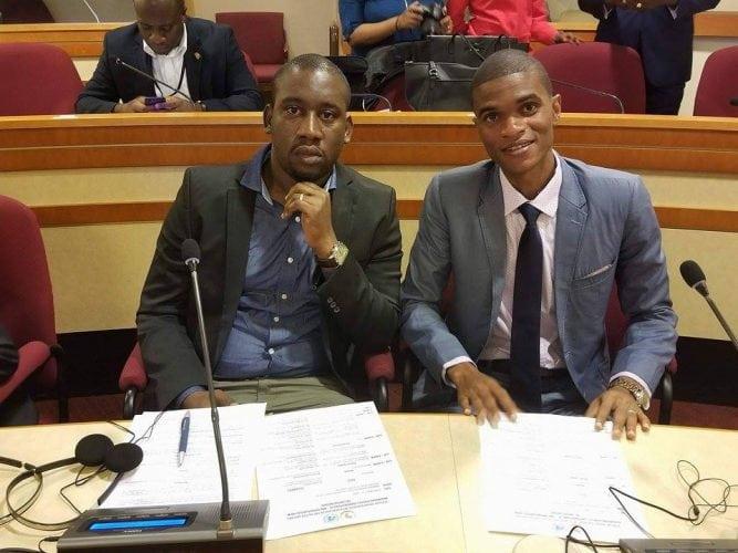 Aliou Bah avec El-hadj Tidiane Diallo, tous deux invités à la conférence