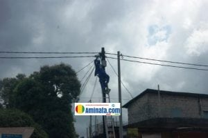 électricité de Guinée, poteau électrique