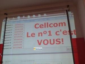 Les dix numéros tirés au sort qui bénéficieront des cadeaux de Cellcom Guinée