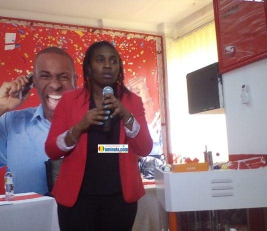 Maimouna Marega du service marketing et communication de Cellcom Guinée