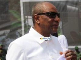 Alpha Condé, président de la République de Guinée