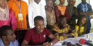 Amadou Thyndel Diallo de la Coalition des élèves et étudiants de Guinée (CEEGUI)