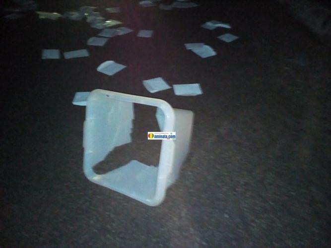 Une urne détruite, ses bulletins de vote éparpillés au quartier Belle-vue Marché2