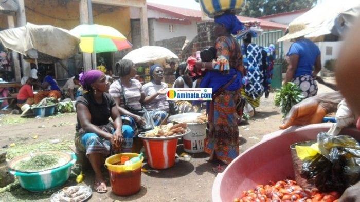 Un marché en République de Guinée