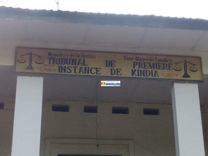 L'entrée du tribunal de première instance de Kindia