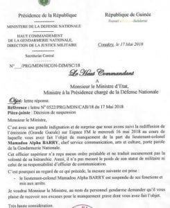 Lettre-dexcuse-du-Haut-Commandement-de-la-Gendarmerie-Nationale-au-ministre-de-la-Defense