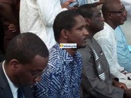 Mouctar Diallo nouveau ministre de la jeunesse lors de la prise de fonction de Kassory Fofana