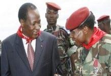 Le capitaine Dadis Camara et Blaise Compaoré à Conakry en 2009
