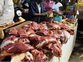 viande en etale boucher a Labe