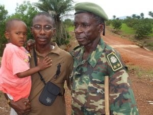 Le Général Bailo avec son fils Dr. Mouctar Diallo