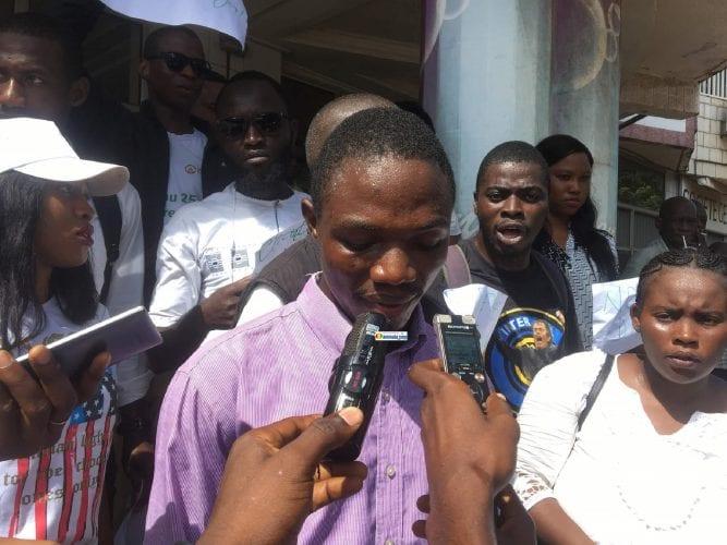 Saa Alou Yombouno, journaliste au groupe de presse Chérie FM TATV