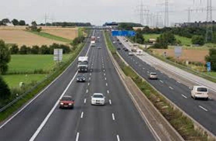 Une autoroute en Allemagne