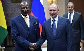 Alpha Condé et Vladmir Poutine