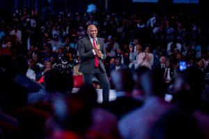 Tony Elumelu lors du forum des entrepreneurs à Lagos (crédit photo TEF)
