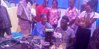 Alpha Ousmane Diallo, ministre de l'hôtellerie et tourisme lors de la foire de Labé
