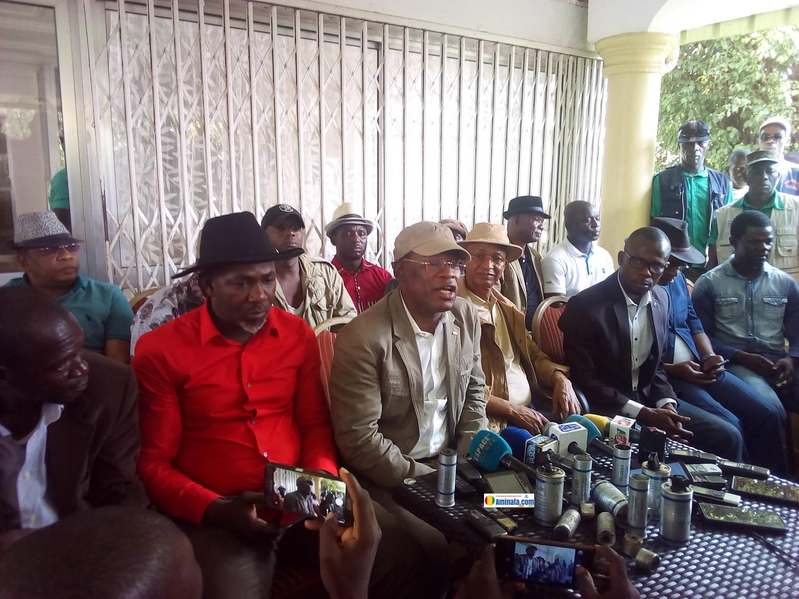 Cellou Dalein Diallo et ses collègues de l'opposition