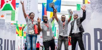Des jeunes lauréats du prix de la Fondation Tony Elumelu