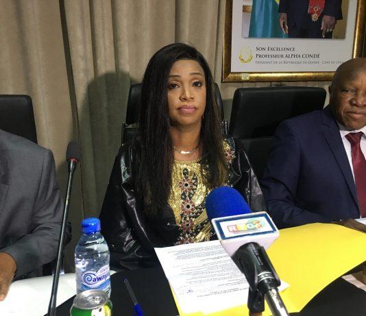Aminata Sylla, Directrice générale de la Lonagui le 31 janvier 2018