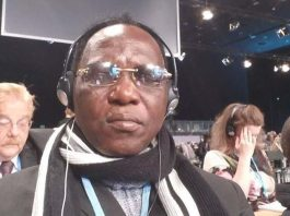 Joseph S. Koundouno panéliste lors de la conférence des nations-unies sur les changements climatiques à Katowice