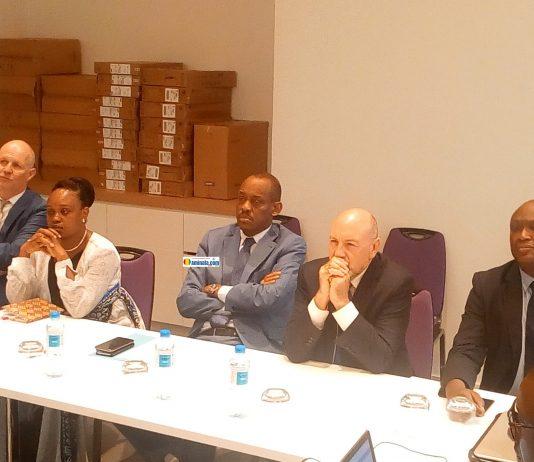 Boubacar Barry, ministre du commerce lors de la clôture de la formation du projet INTEGRA