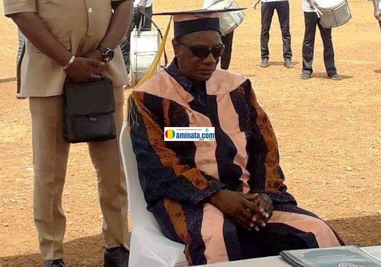 Alpha Condé à l'Université Général Lansana Conté (UGLC)
