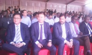 Des investisseurs chinois lors de Cérémonie de lancement des travaux du chemin de fer Boké-Boffa-Telemelé