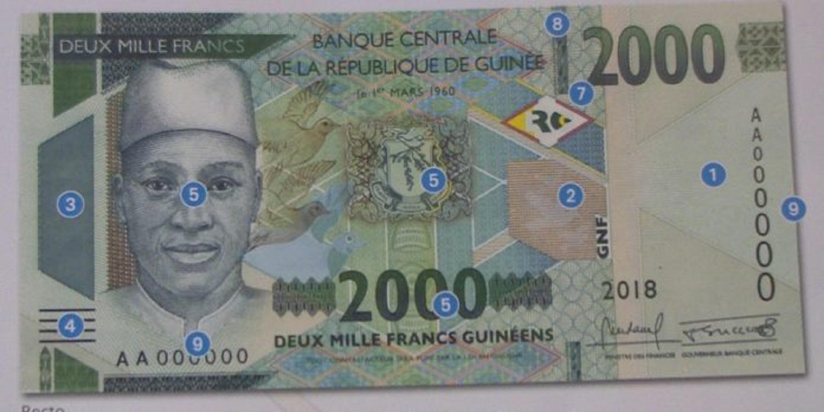 Un nouvelle coupure de billet de 2000 mise en circulation