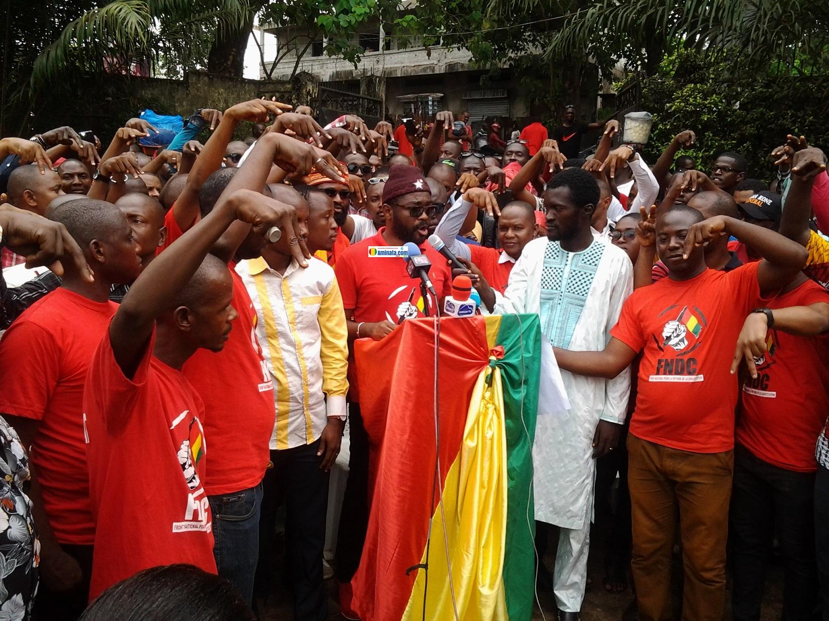 Rassemblement du front anti-3e mandat