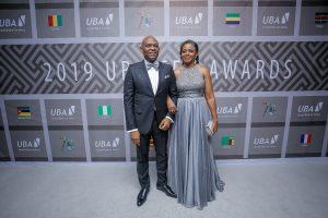 Tony Elumelu, Président du Groupe UBA, et Dr. Awele Elumelu, son épouse, lors de la cérémonie spéciale 'UBA CEO Awards' marquant le 70e anniversaire de la banque à Lagos le 27 avril.