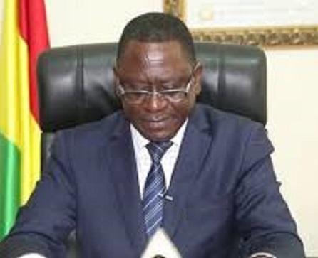 Frédéric Loua, ministre de la pêche, de l'aquaculture et de l'économie maritime