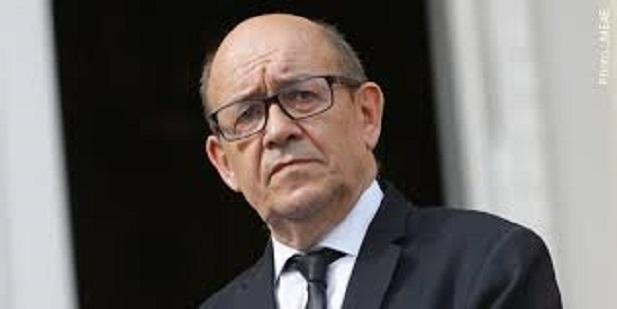 Jean Yves Le Drian, ministre des affaires étrangères de la France