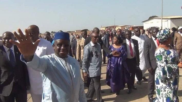 Le président de la Sierra Léone Maada Bio chez Alpha Condé