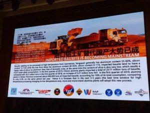 Présentation sur les potentialités minières de la Guinée lors du 10e sommet de l'aluminium à Zengzhou, en Chine