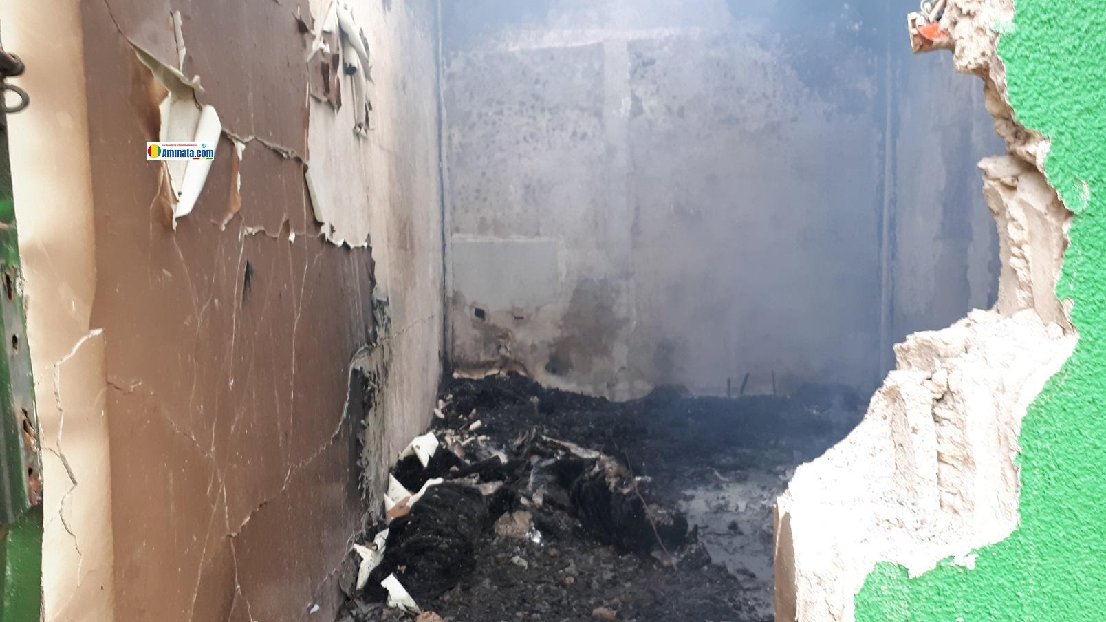 Incendie au dépôt de la pharmacie centrale de Labé