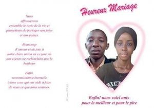 Avis de mariage Aboubacar Pastoria Camara et Bountouraby se diront oui le 28 juillet à Kindia